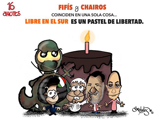 Fifís y Chairos coinciden en una sola cosa... Libre en el sur es un pastel de libertad
